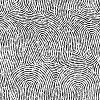 Nahtloser Hintergrund des Fingerabdrucks auf quadratischer Form. vektor
