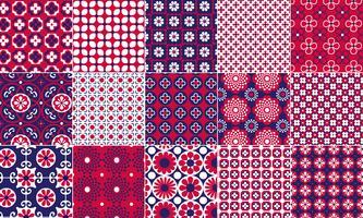 Rote, weiße und blaue Muster vektor