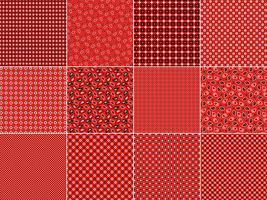 Röda Bandana Mönster vektor