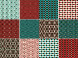 Indianska inspirerade geometriska mönster vektor