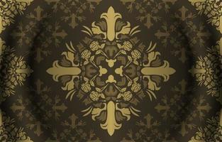 dekorativer Vintage-Musterhintergrund vektor