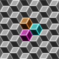 3d låda sömlös mönster på grå ton. vektor