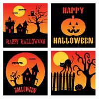 Halloween quadratische Grafiken