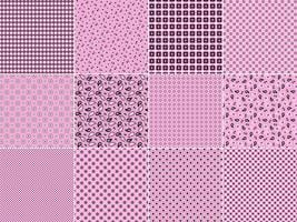 Rosa Bandana-Muster vektor