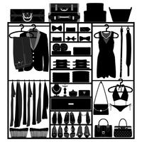 Kleiderschrank-Kleiderschrank vektor