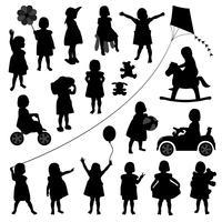 Barn som spelar set. vektor