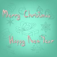 God Jul och Gott Nytt År vektor