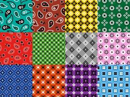 sömlösa bandana mönster vektor