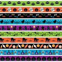 helle Halloween-Grenzmuster vektor
