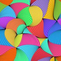 Stilfullt färgstarkt vektor krökt sömlöst mönster.
