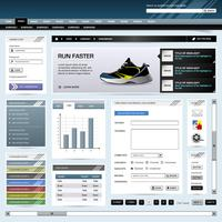 Web Design Website Element Vorlage Schaltfläche.