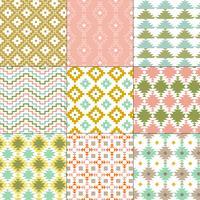 pastell Native American geometriska mönster vektor