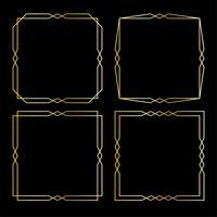 goldene Art-Deco-Rahmen