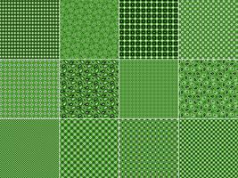 Grön Bandana Mönster vektor