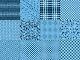 Hellblaue Bandana-Muster vektor