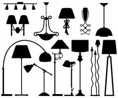 Lampendesign für Boden-Deckenwand.