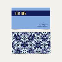 Visitenkarte portugiesische Azulejos.