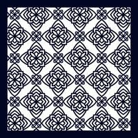 Quadratisches Musterfeld zum Laserschneiden mit Mandalas