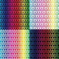 regnbåge fredsskyltar mönster vektor