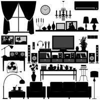 Wohnzimmermöbel vektor