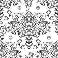 Nahtlose Muster der russischen Motive der nördlichen Malerei vektor
