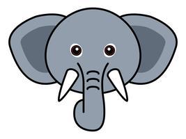 Söt elefantvektor. vektor