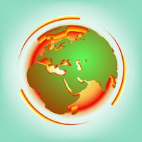 Vektor der globalen Erwärmung