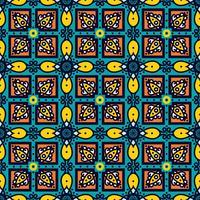 Talavera oblana mexikanskt sömlöst mönster vektor