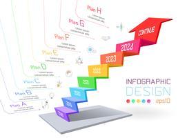 Geschäft infographic auf dreidimensionaler Diagrammstange. vektor