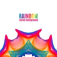 Rainbow Star Hintergrund. vektor