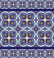 Blå prydnad traditionella portugisiska azulejos. Orientaliskt sömlöst mönster vektor