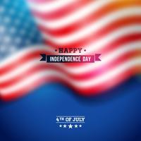 Unabhängigkeitstag des USA-Vektorhintergrundes