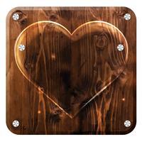 Herz aus Glas, eine Platte vektor