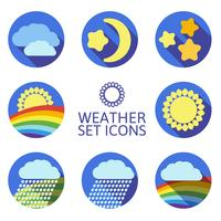 Set von Icons für Wetter.