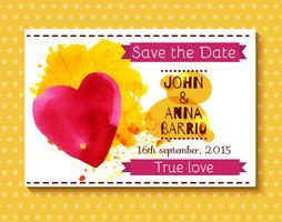Bröllopsinbjudan spara datumkortet Vector