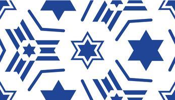 Sömlöst mönster, med en blå stjärna av David. vektor