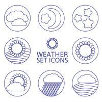 ikoner väder.
