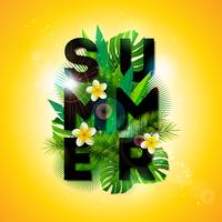 Sommarferie typografisk illustration