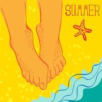 Sommerzeit-Konzept vektor