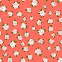 Little Rose nahtlose Hintergrund vektor
