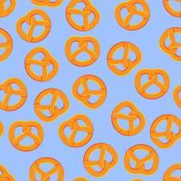 sömlös mönster bagel vektor