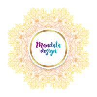Mandala banner, indisk stil.