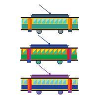 Spårvagn. streetcar platt vektor