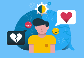Geistesgesundheits-Gehirn-Infographic-Vektor-Illustration
