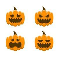 beängstigende Gesichtskürbis-Geisterillustration für Halloween-Tag vektor