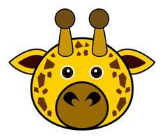 Gullig Giraff Vector. vektor