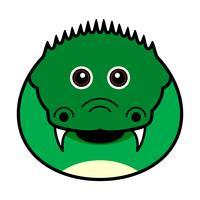 Gullig krokodilvektor.