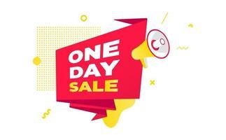 Ein Tag Verkauf Countdown Ribbon Abzeichen Symbol Zeichen. vektor
