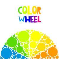 Färghjul eller färgcirkel på bakgrunden