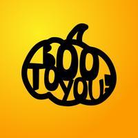 Halloween - BOO till dig. Laserskärmsmall